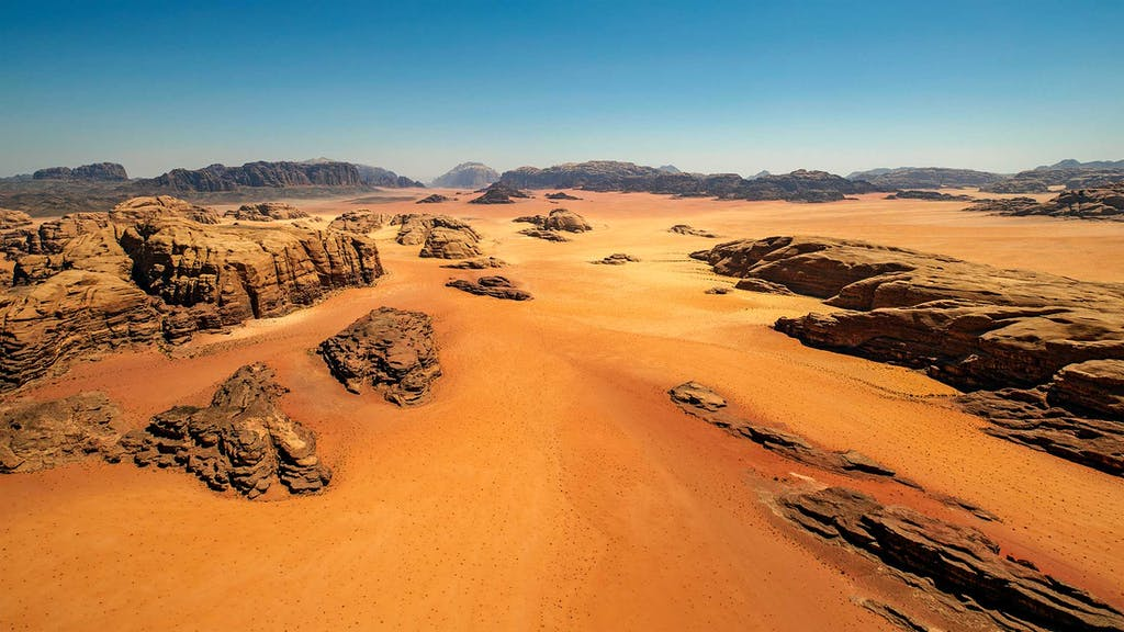 The Wadi Rum in Jordan can be a slow travel experience.