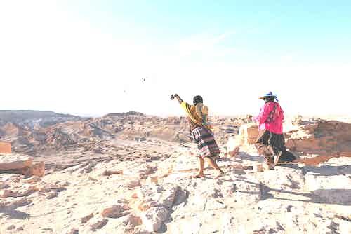 A Pachamama ceremony in Chile's Atacama Desert.