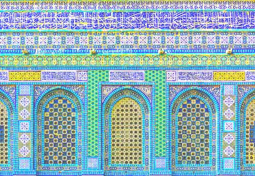 Ceramic tile facade, Dome of the Rock, Temple Mount /Andrew Shiva