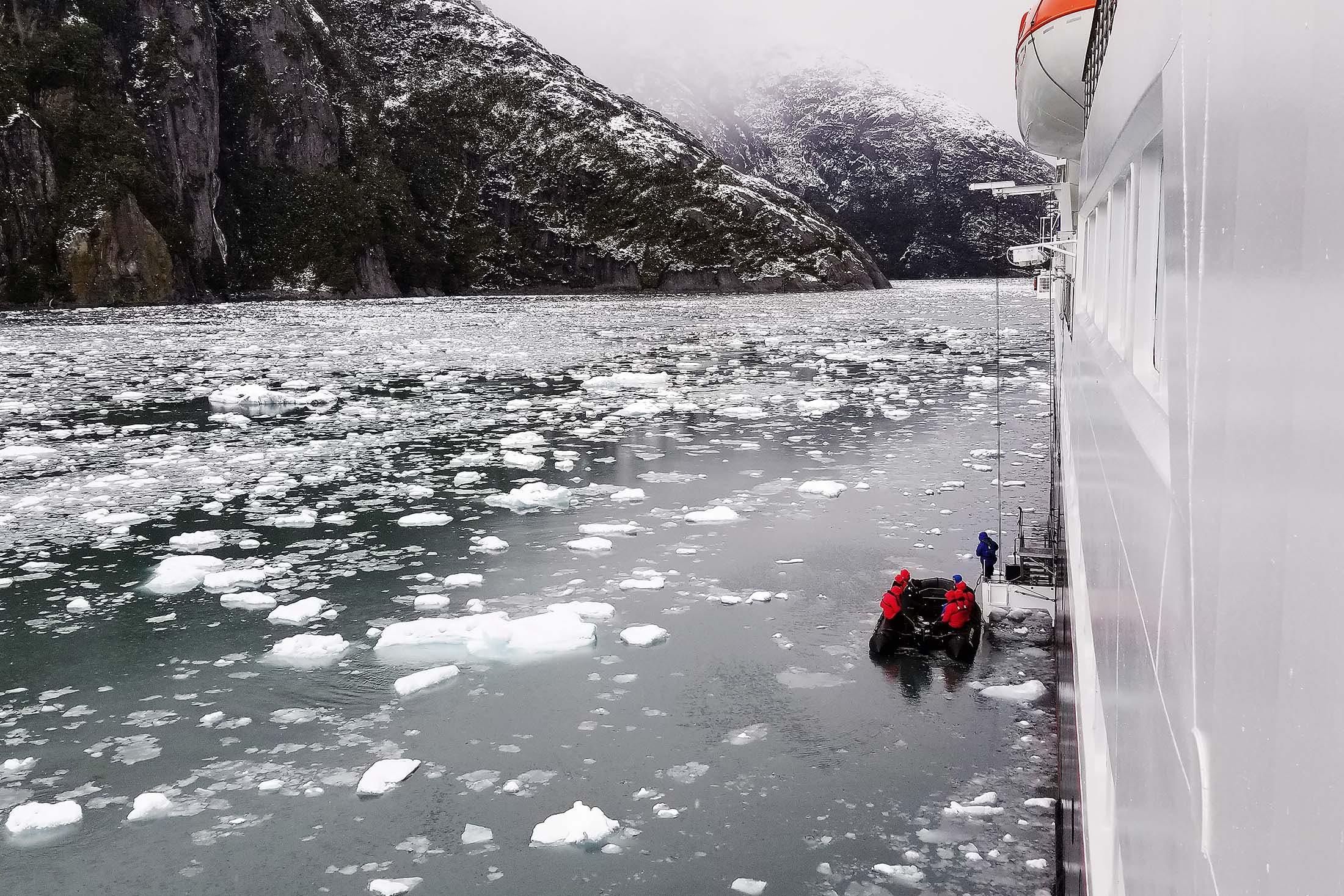 Giribaldi Glacier in the Chilean Fjords