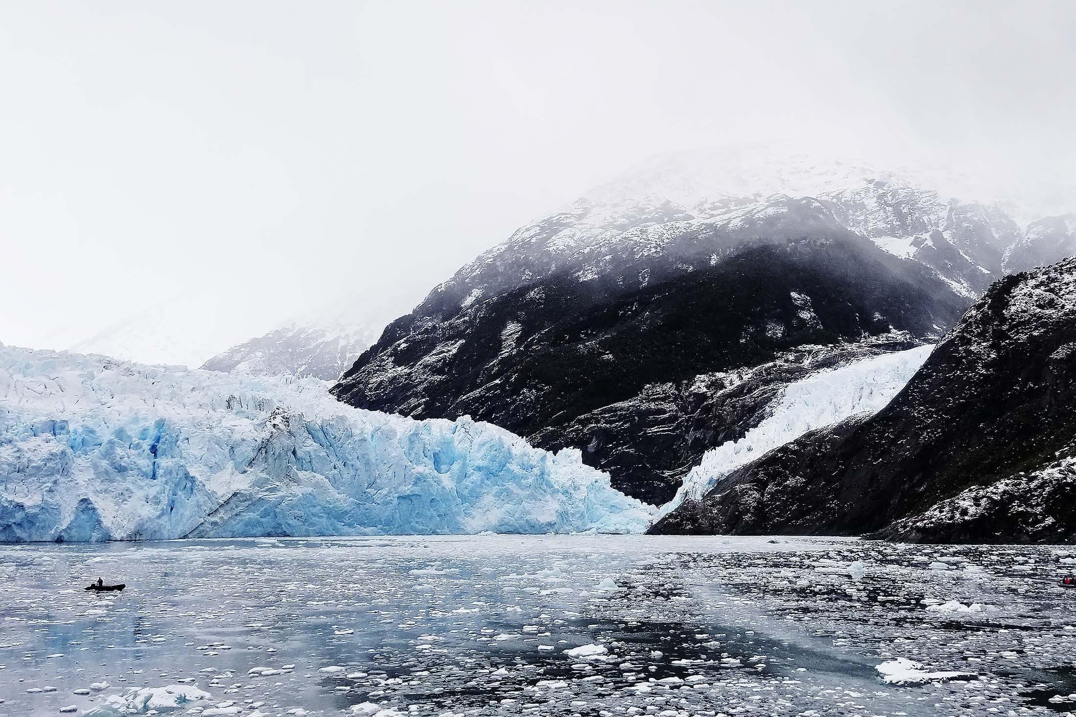 glaciers in Chile's fjords