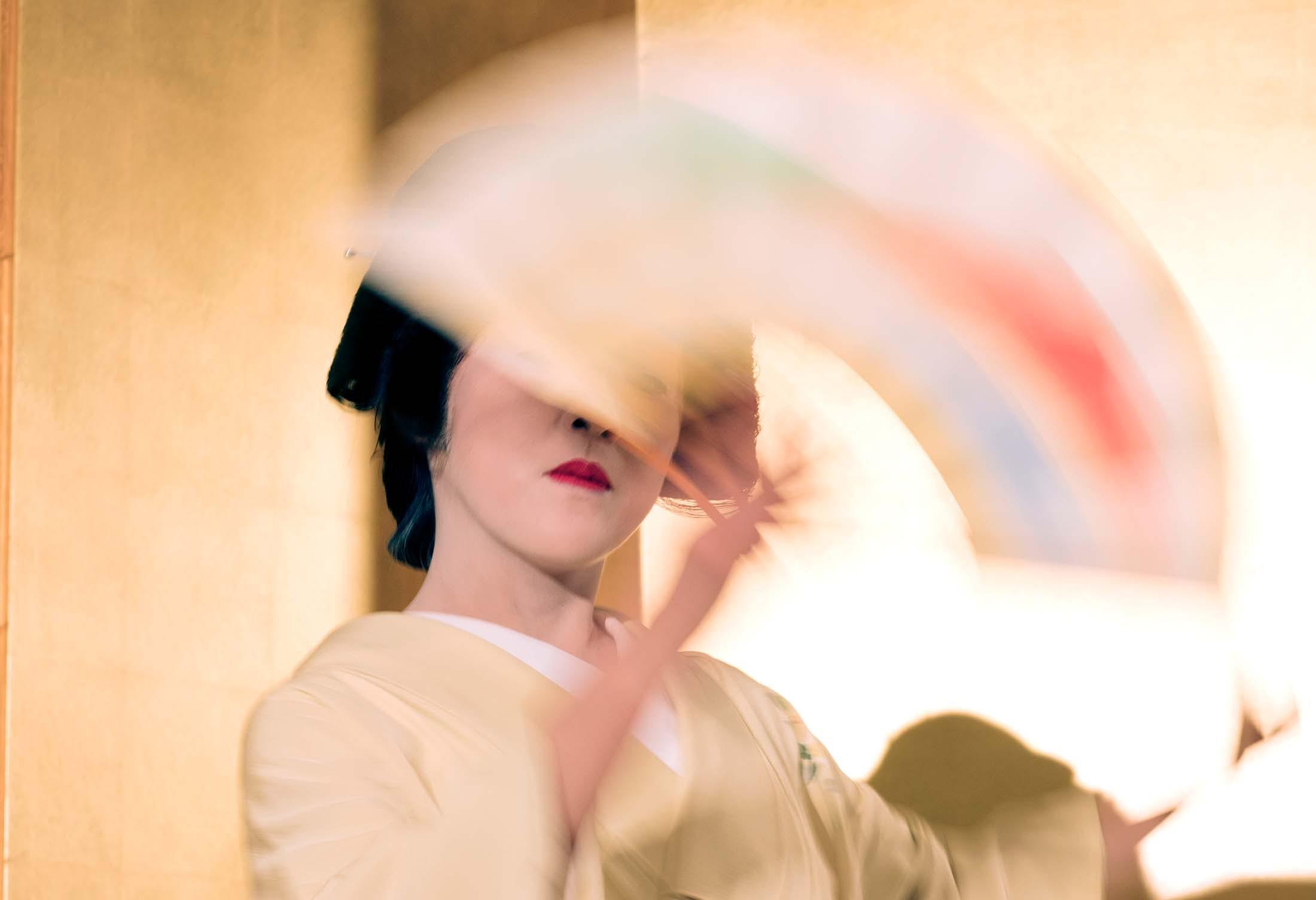 Japanese geisha in Kanazawa, Japan