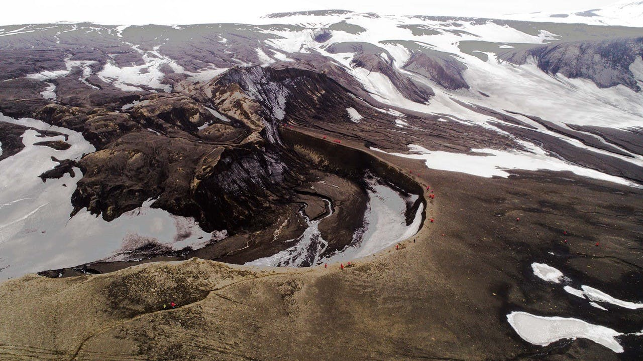 Telefon Bay, Deception Island, South Shetland Islands, Antarctica