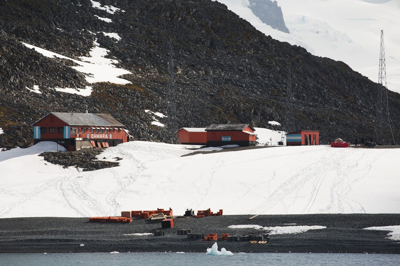 Camara Base, Half Moon Island, Antarctica