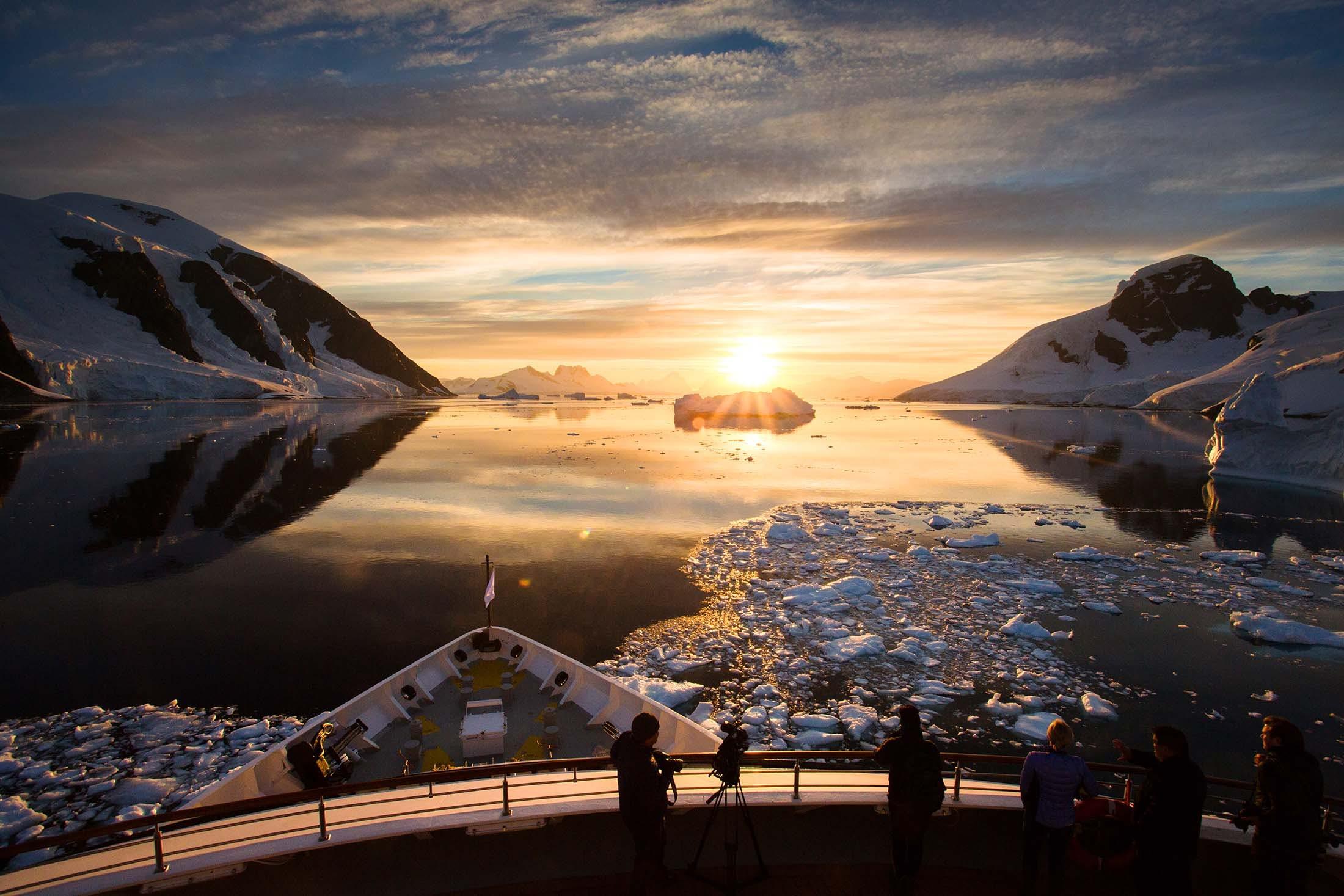 Silver Explorer cruising the Errera Channel, antarctica