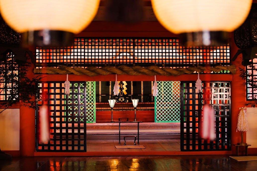 Holy sites like Itsukushima Shrine in Miyajima are popular for hosting a traditional Japanese wedding ceremony.