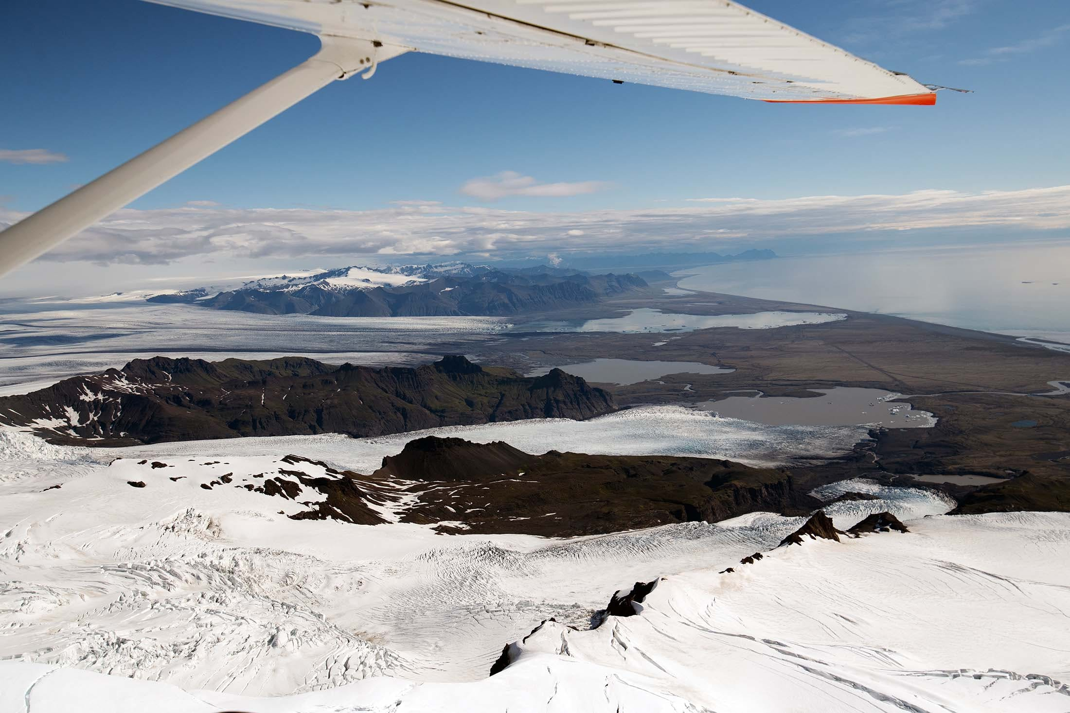 Iceland's attractions seen from the air
