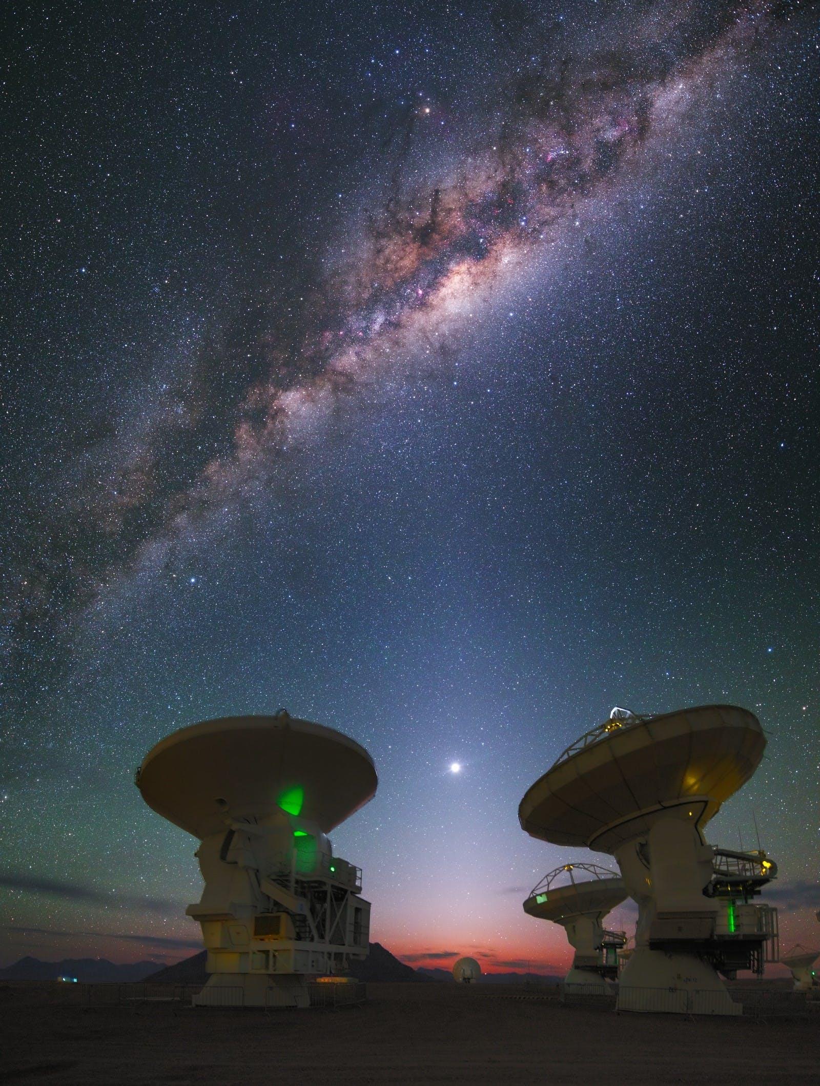 Night sky in the Atacama Desert, Chile