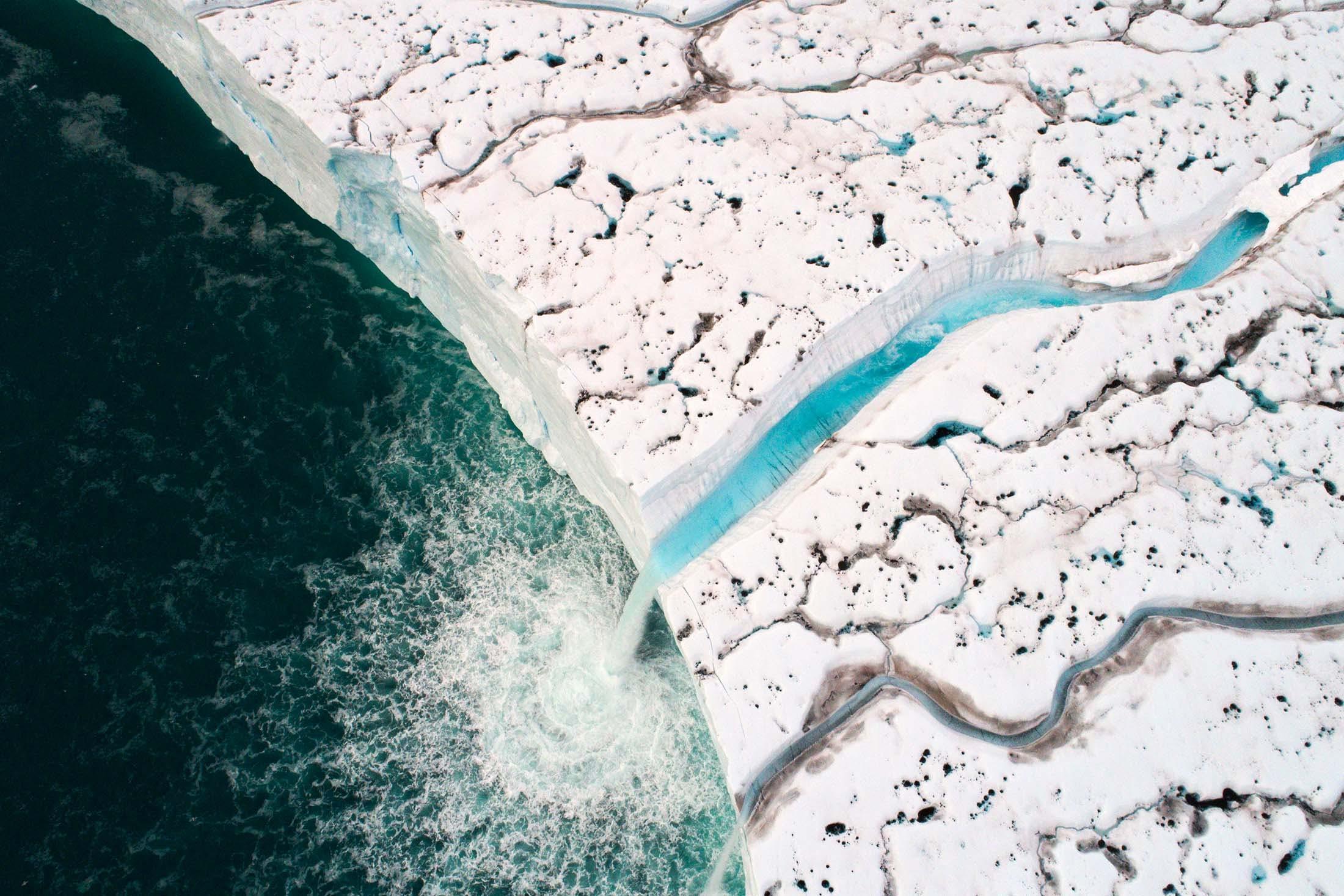 Arctic ice in Brasvelbreen, Svalbard