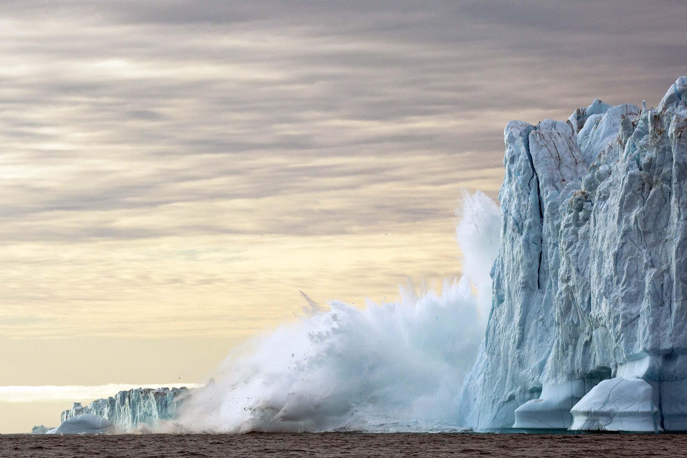 Arctic ice in Hall Bredning, Greenland