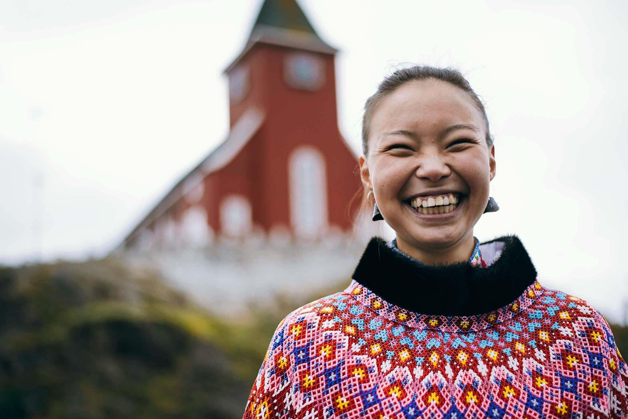 Berda Larsen in Sisimiut, Greenland