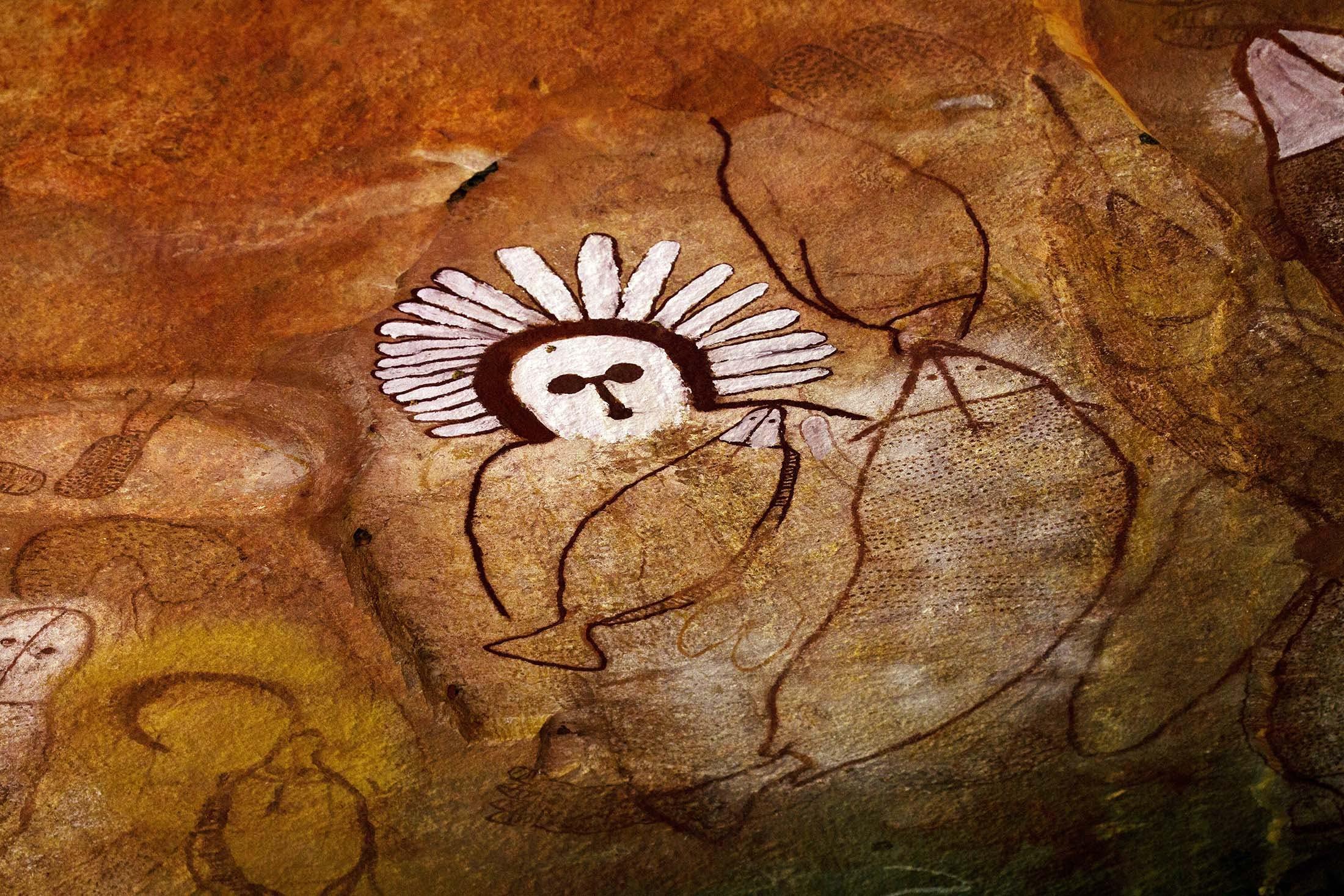 Indigenous rock art, Raft Point, Kimberley, Australia