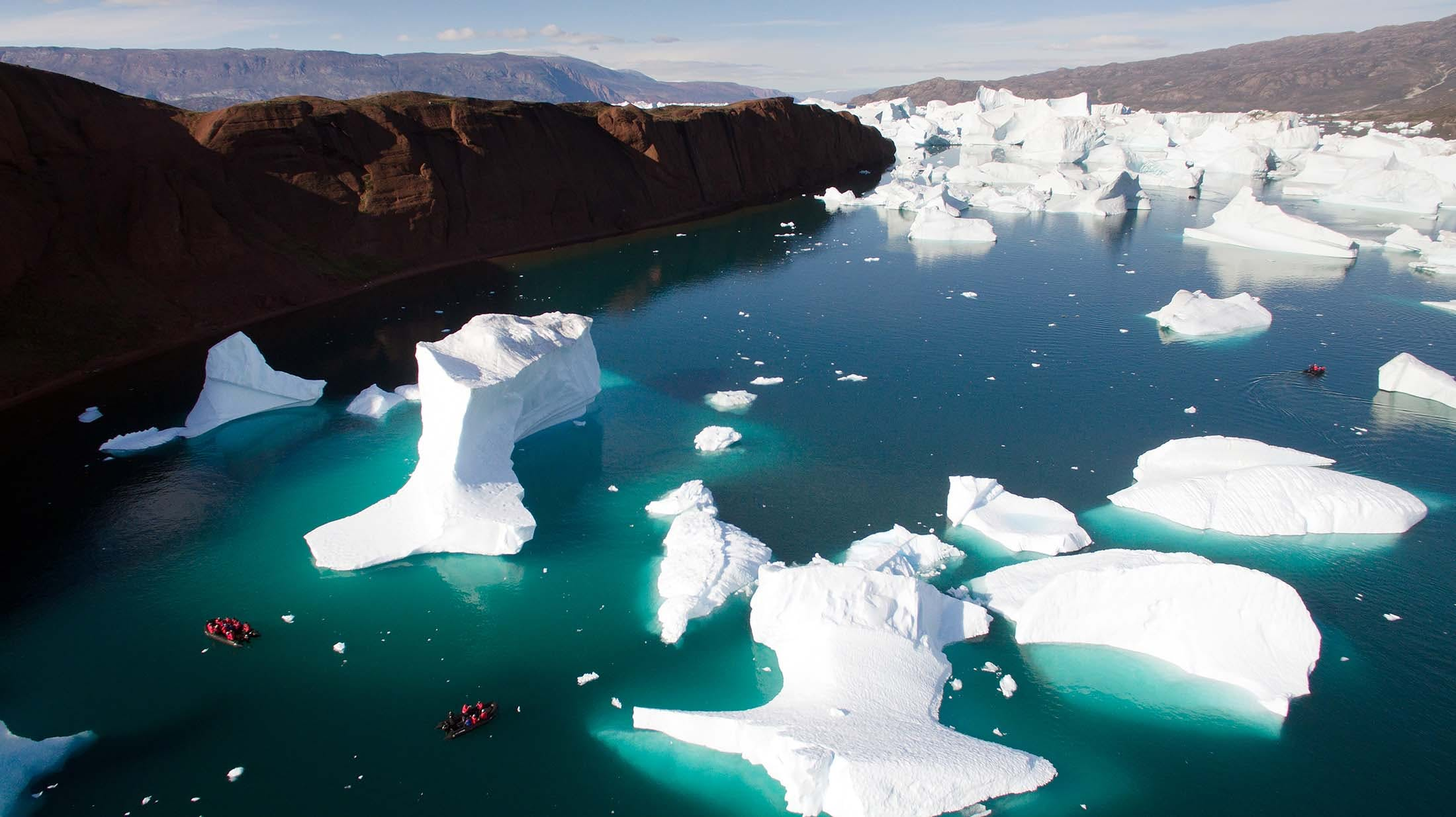 Arctic ice in Rode Fjord, Greenland