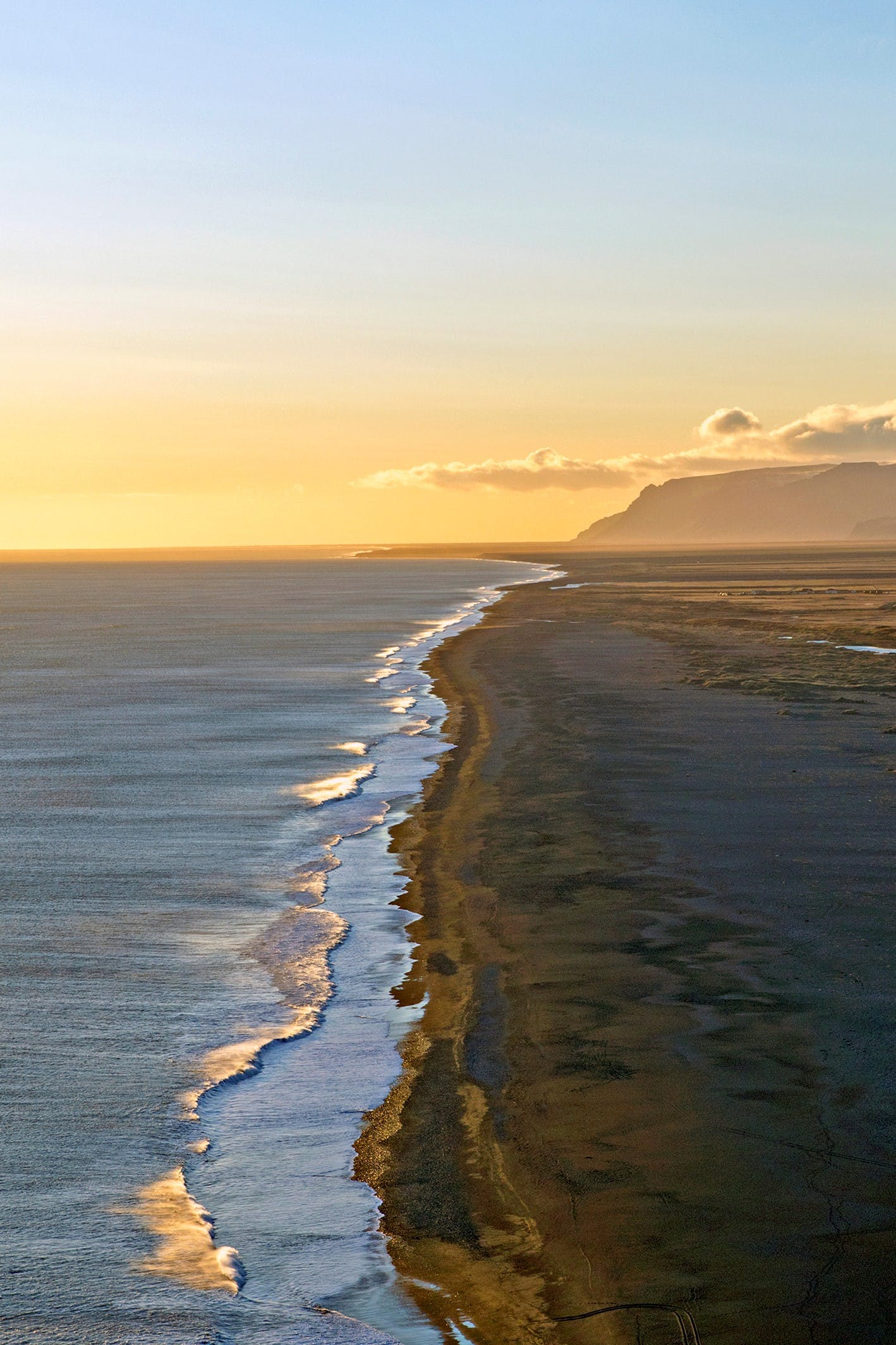 Icelandic Landscapes like Black Sand Beach helped inspire Tolkien's Middle Earth.