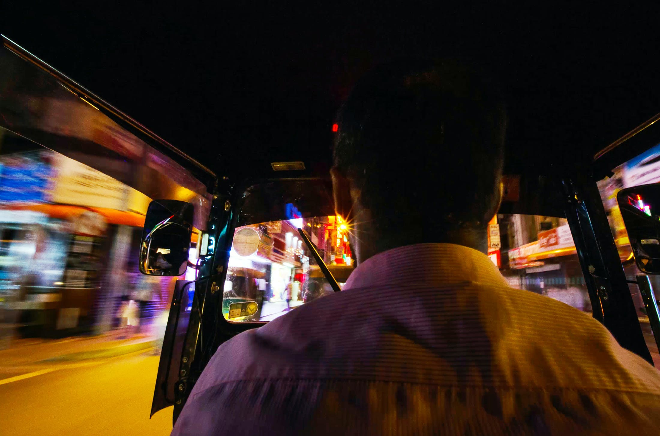 tuk-tuk ride in Colombo, Sri Lanka