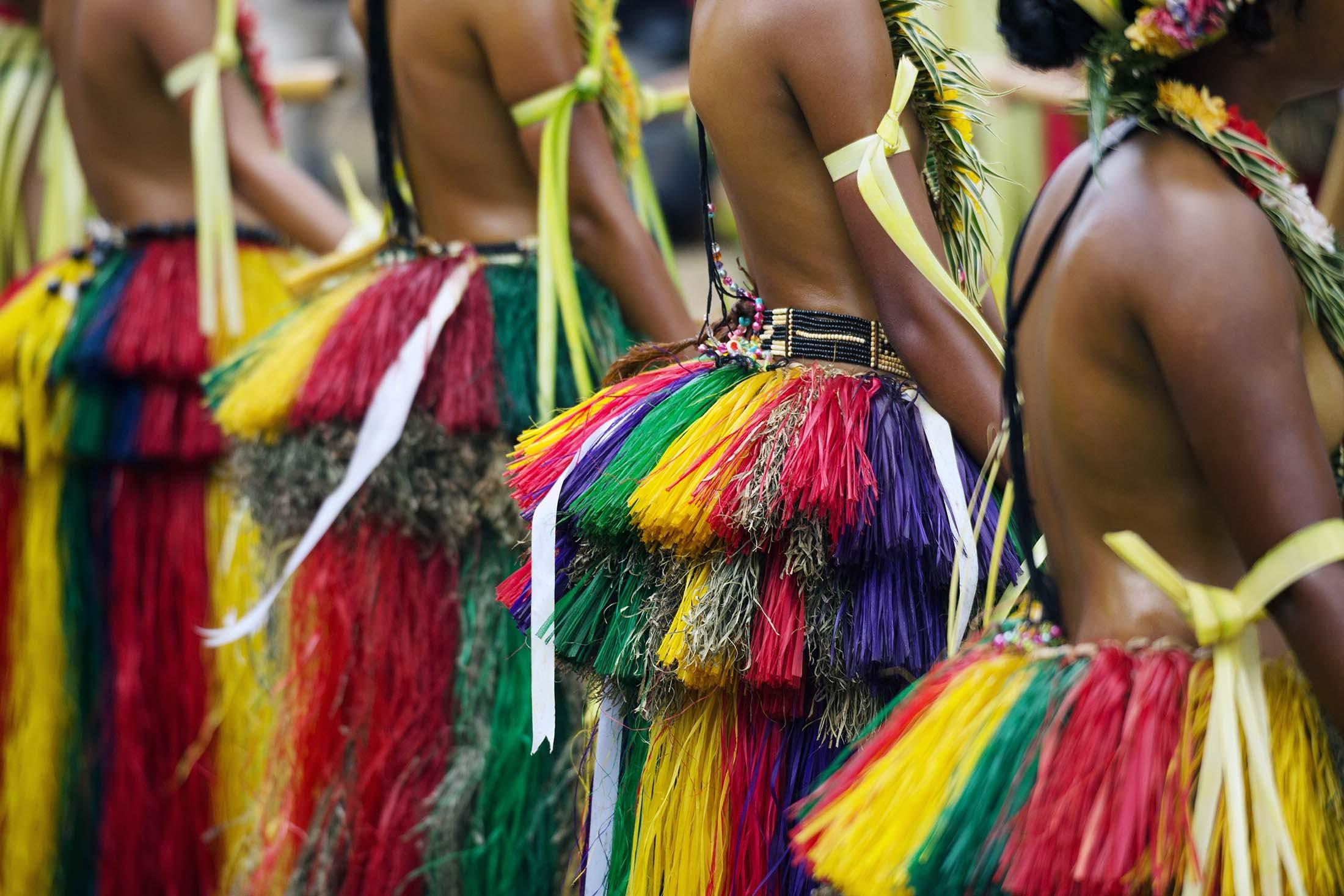 Cultural display in Yap Island