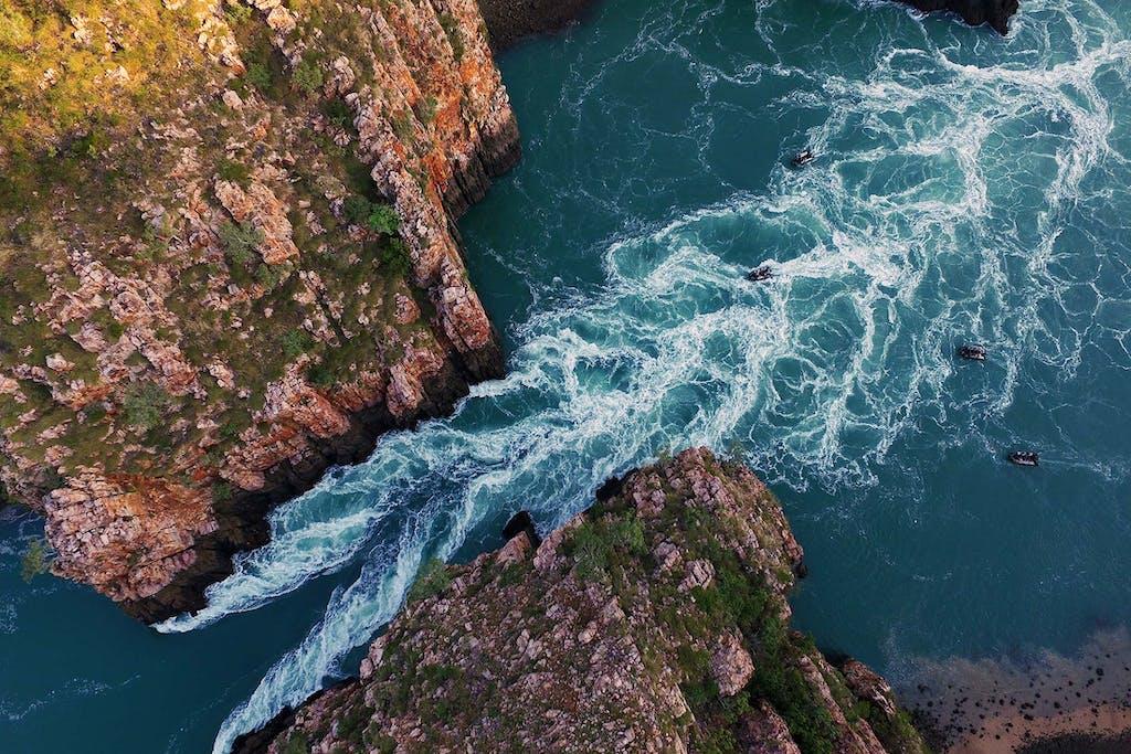 The horizontal waterfalls are one of Kimberley's landmarks.