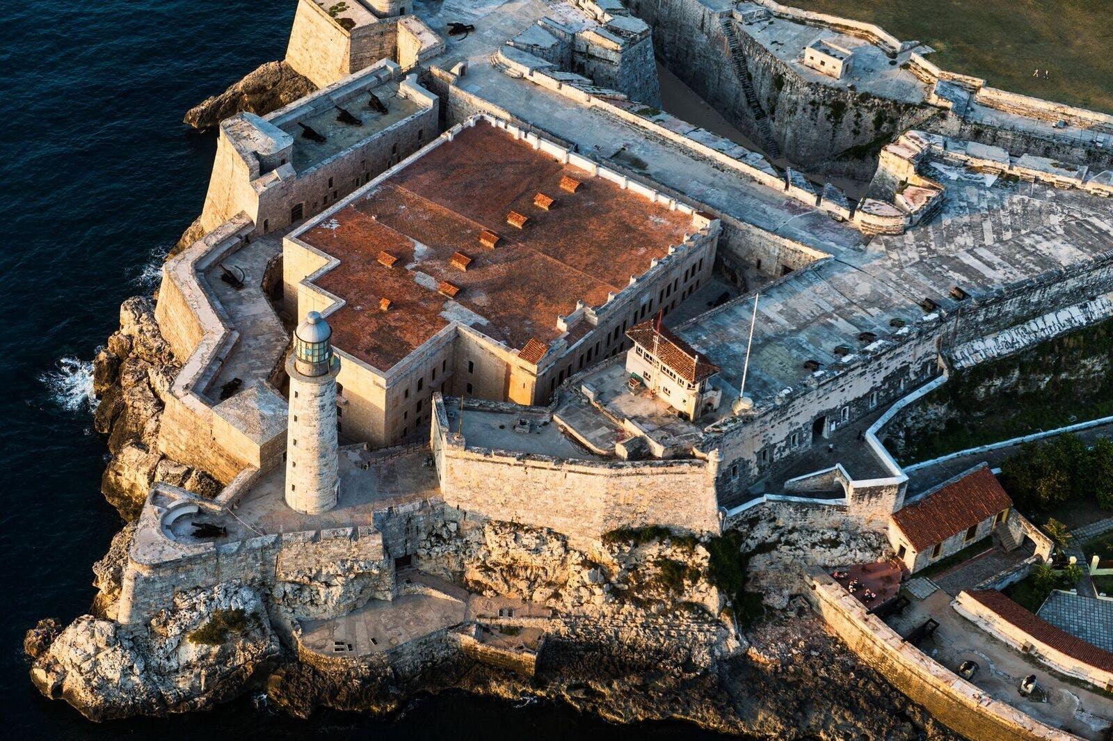 Aerial view of El Morro, Havana's Castle fortress