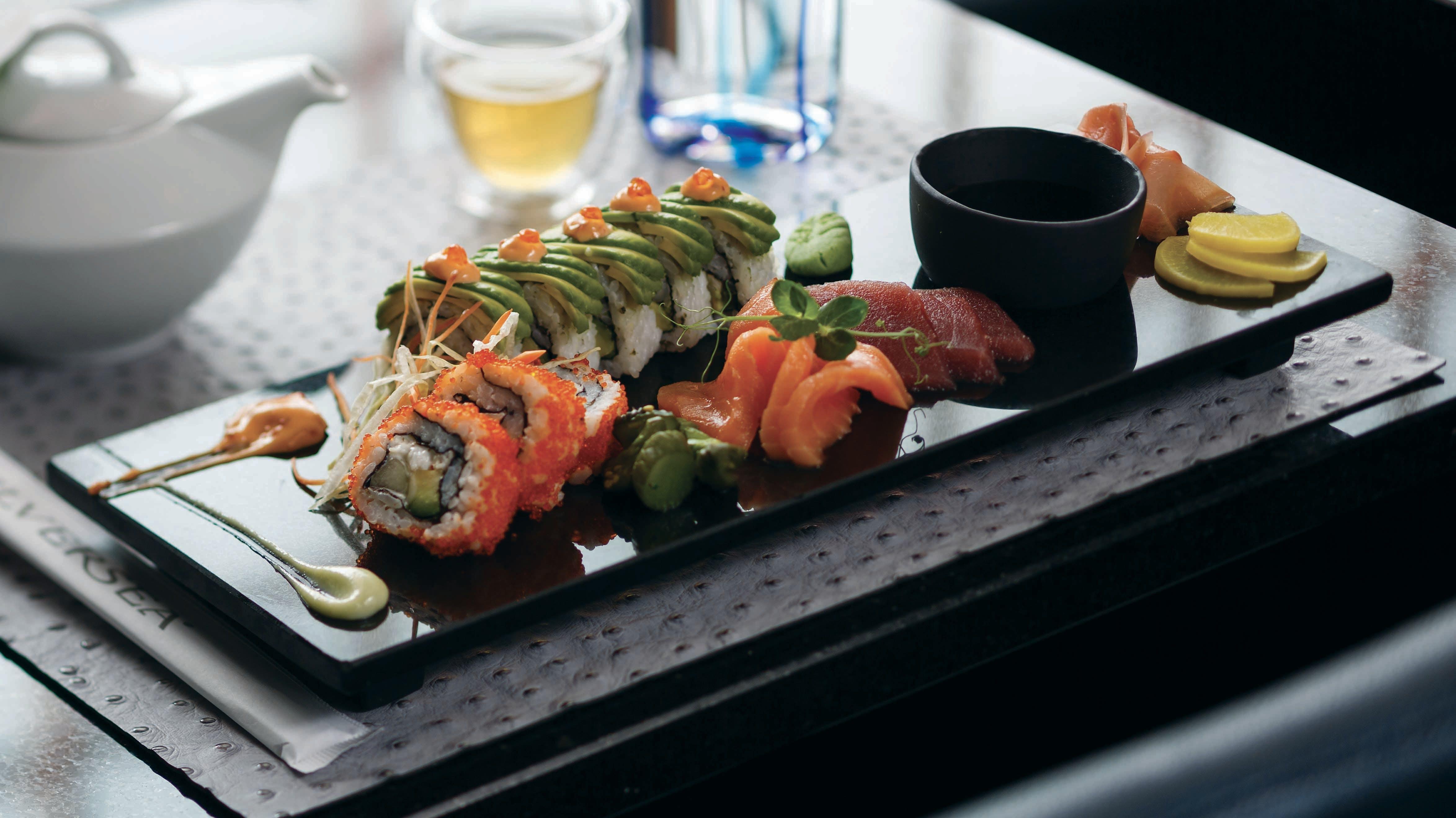 Japanese sushi, Silversea Cruises