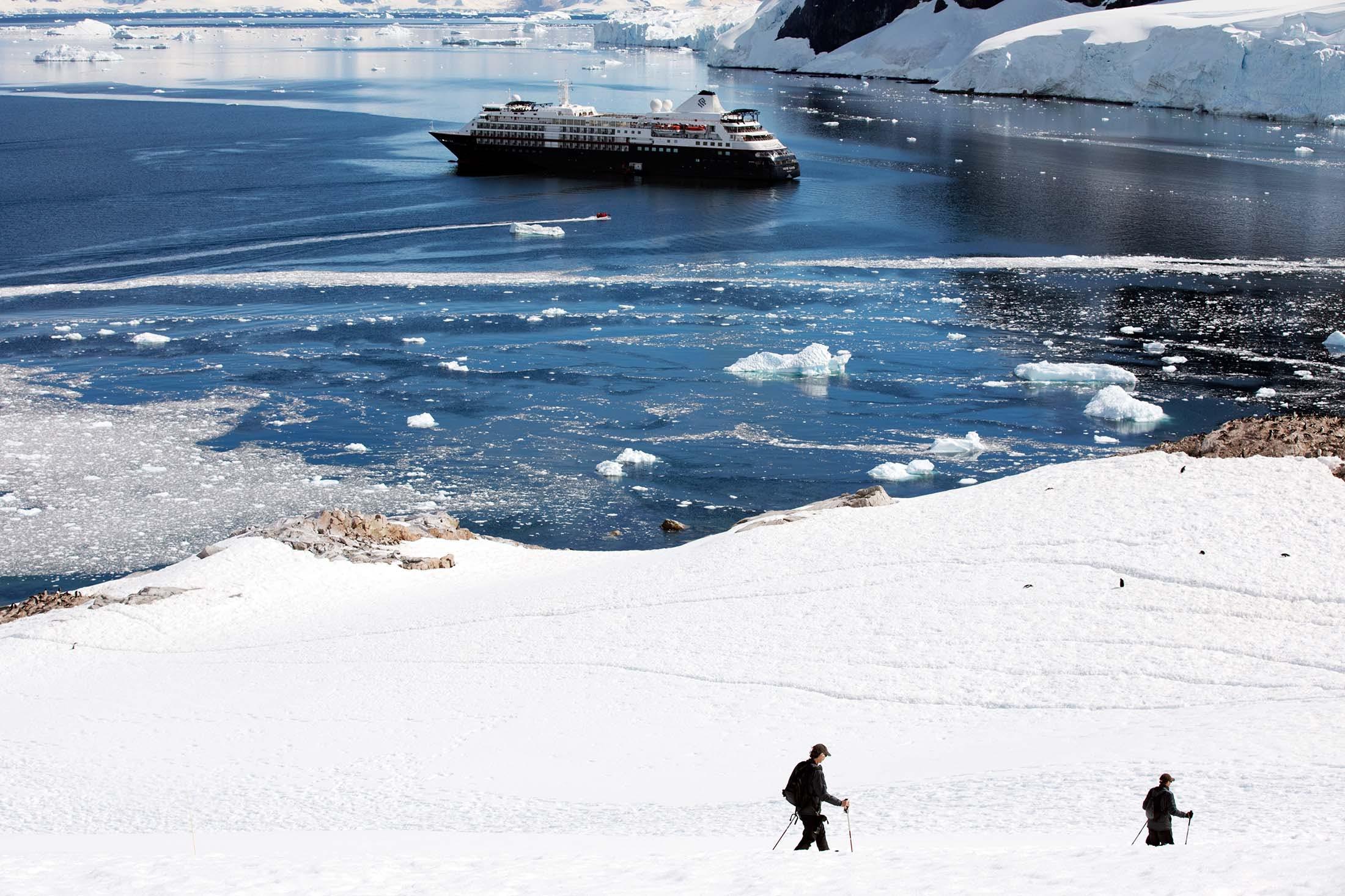 Silversea guests exploring Neko Harbor, Antarctica