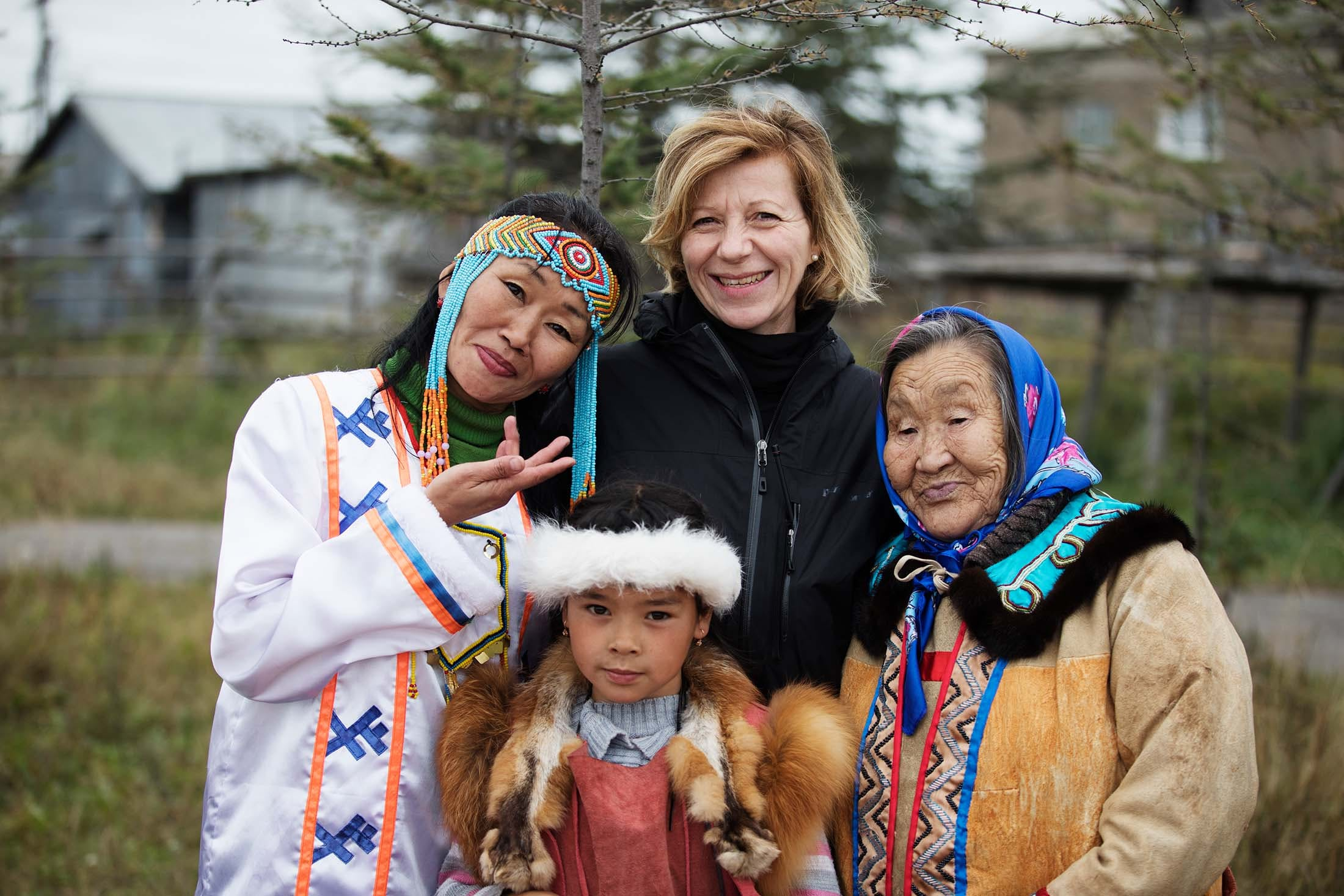 The Eveny people of Okhotsk City in Russia