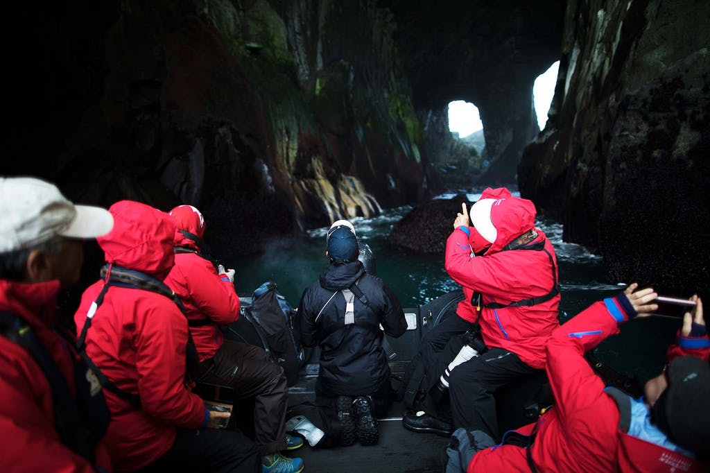 Emerald Grotto, Yankicha Island, Russian Far East