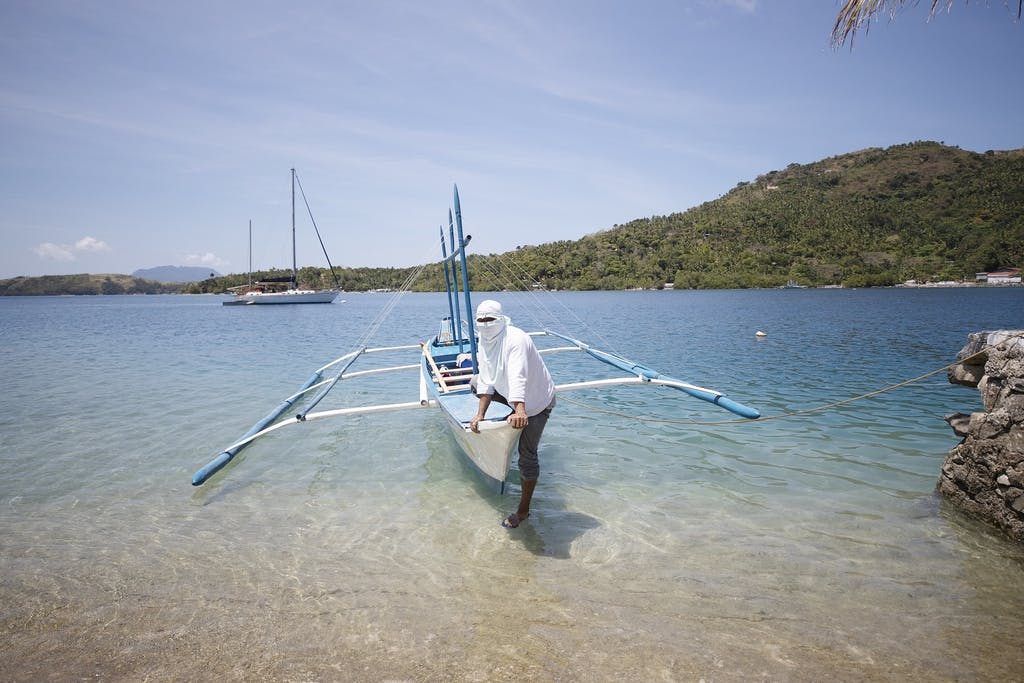 traditional bangka boat in the Philippines