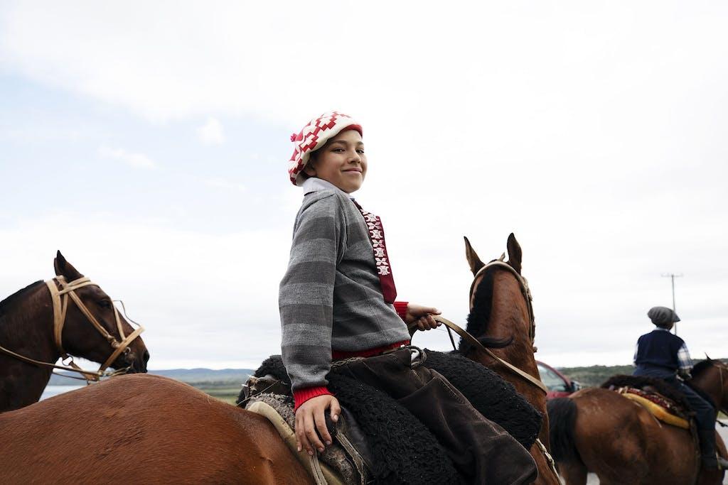 gaucho on horseback in Patagonia, Argentina