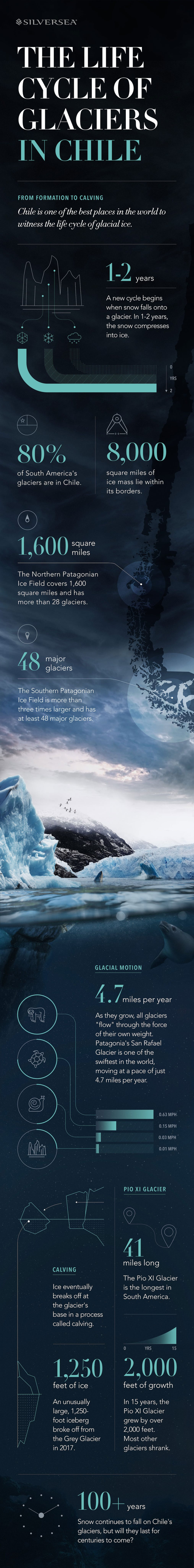 Learn about the stages of a glacier with this infographic.
