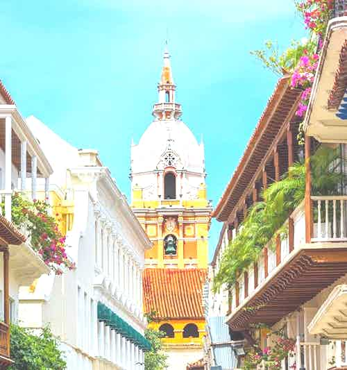 silversea-caribbean-cruise-balconies-leading-to-the-stunning-cathedral-in-cartagena-colombia