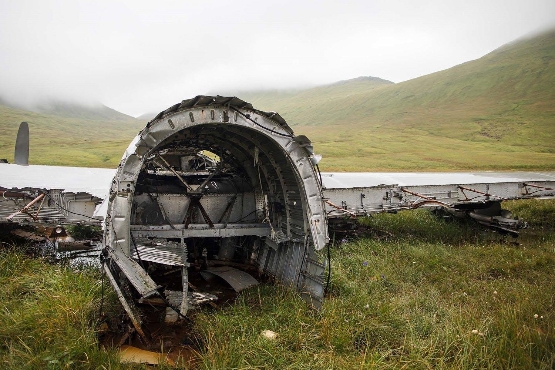 Plane wreck on Atka Island