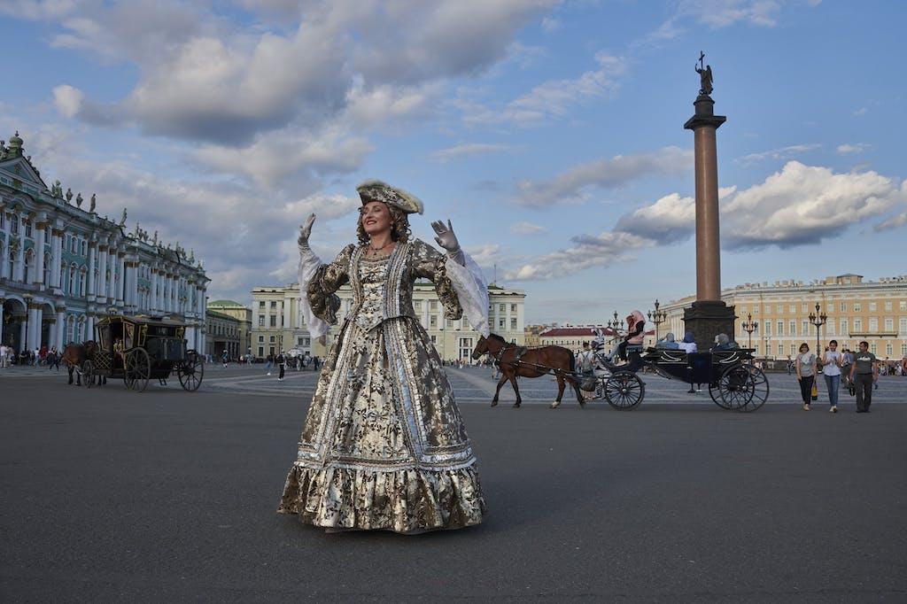Saint Petersburg street performer