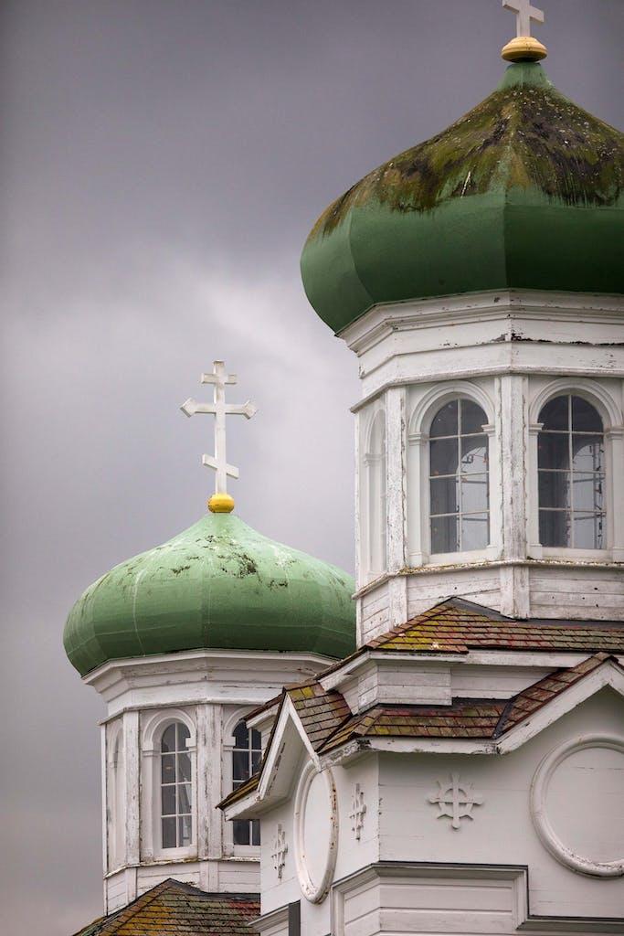 Onion-domed spires, Dutch Harbor