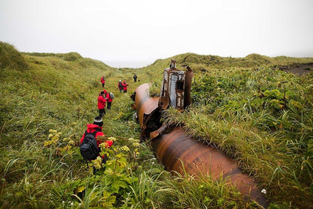 submarine on Kiska Island, Alaska