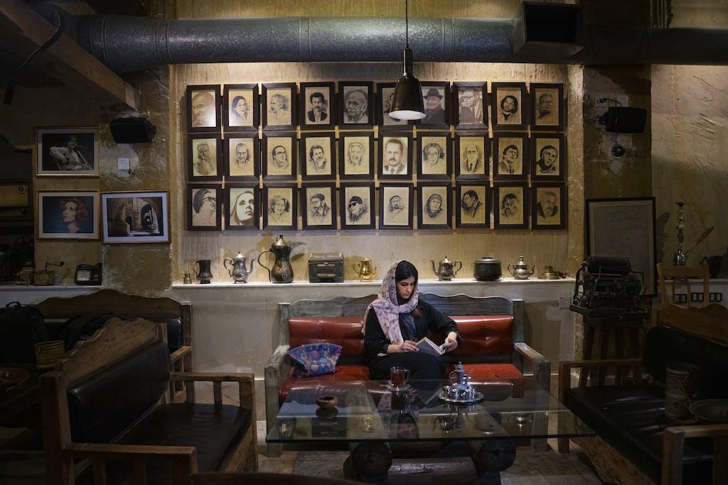 cafe in Jordan by Steve McCurry