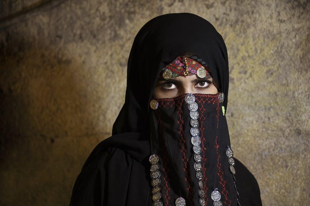Portrait of lady in Jordan