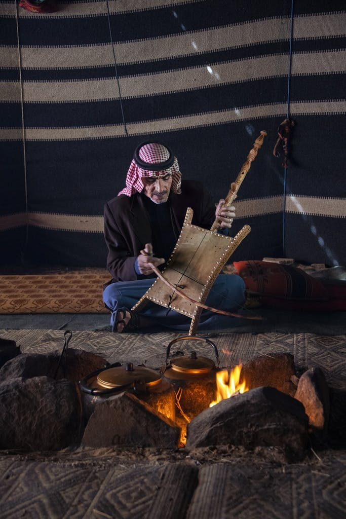 Musician in Petra by Steve McCurry
