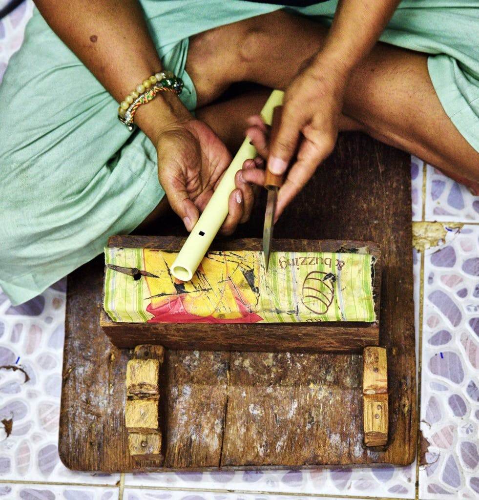 Flute making in Bangkok - Asia's artisans