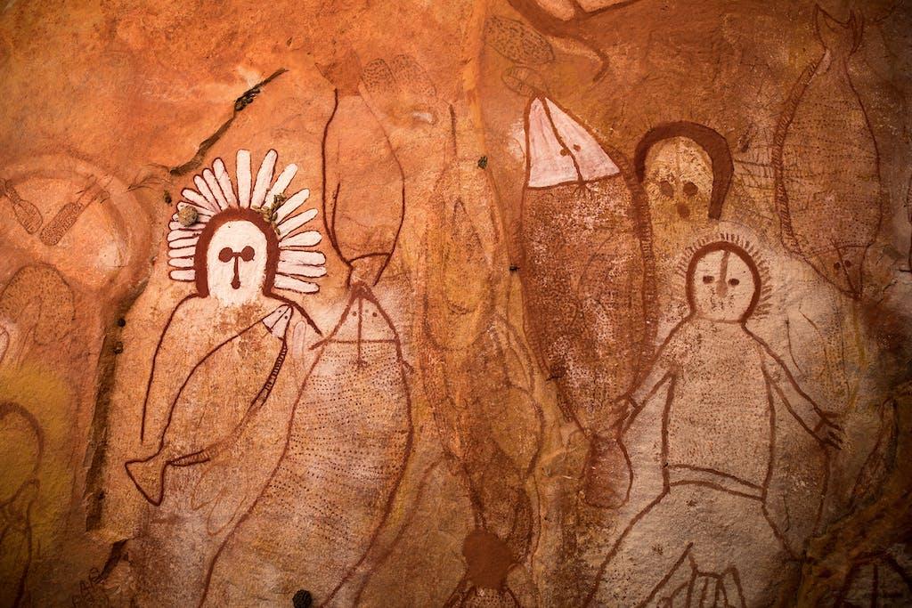 Wandjina rock art in Raft Point.