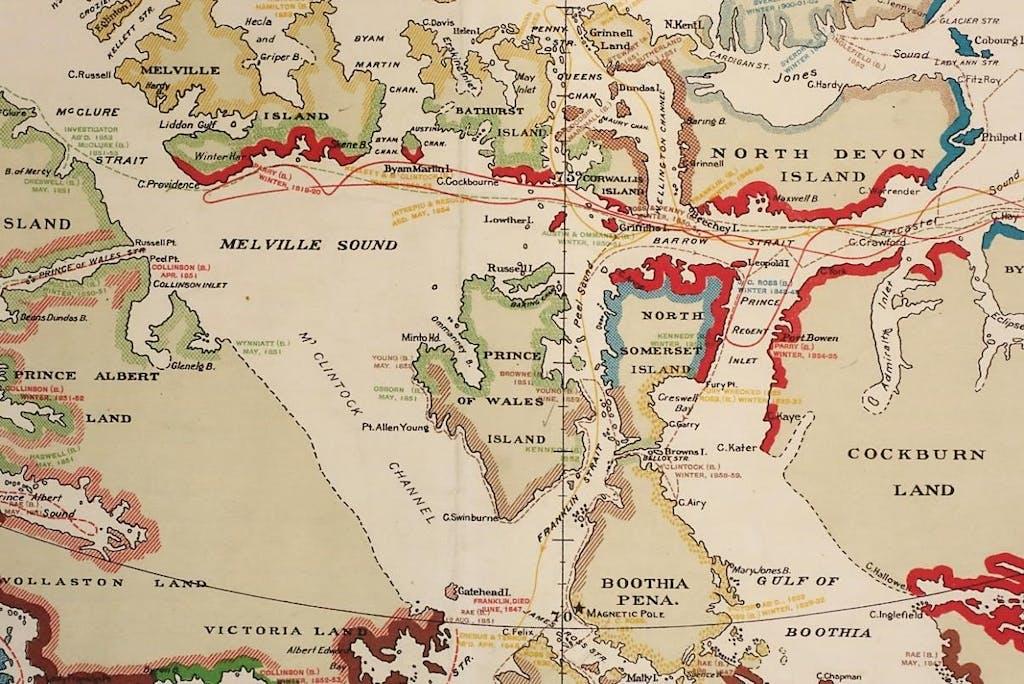 Routes-taken-by-explorers-northwest-passage