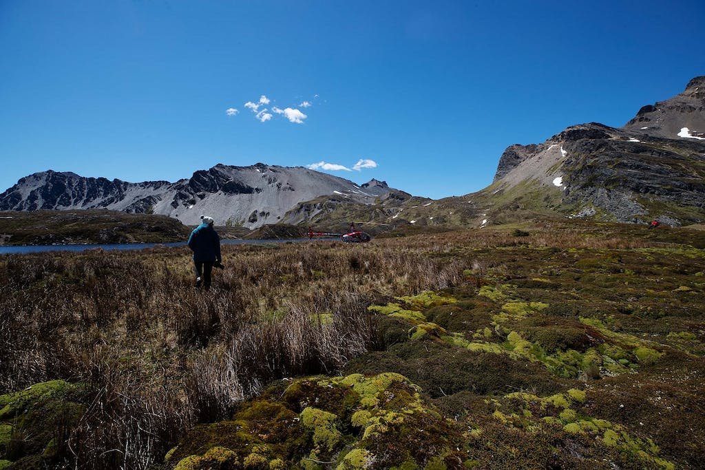 Aerial photography in the Andes Mountains, Patagonia