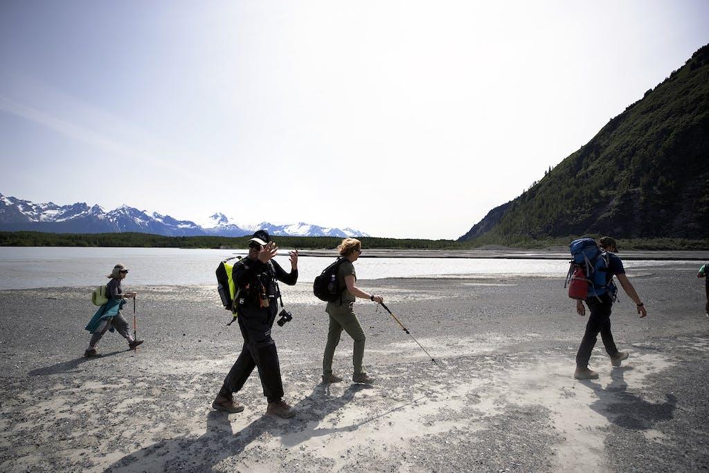 Alaska glacier hiking tour