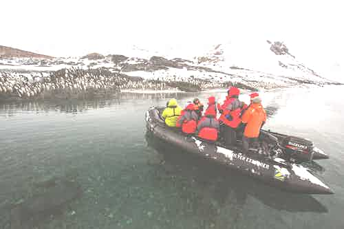 Zodiac tour in Antarctica