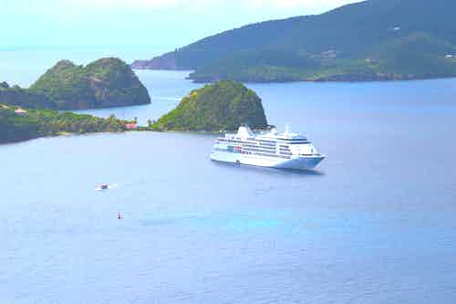 Silver Whisper in Les Saintes, French West Indies