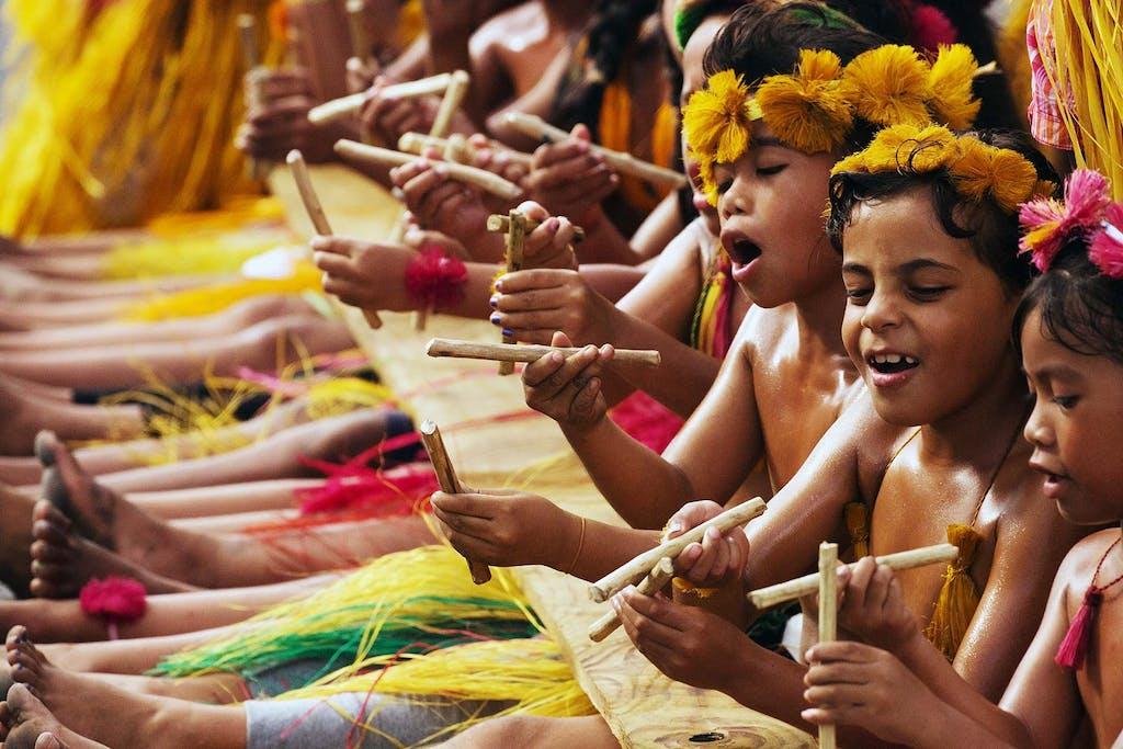 Children in Micronesia
