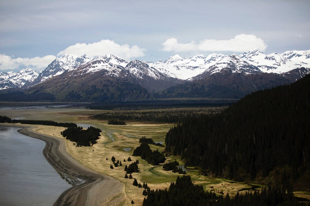 Aerial view of Chilkat Range, Alaska