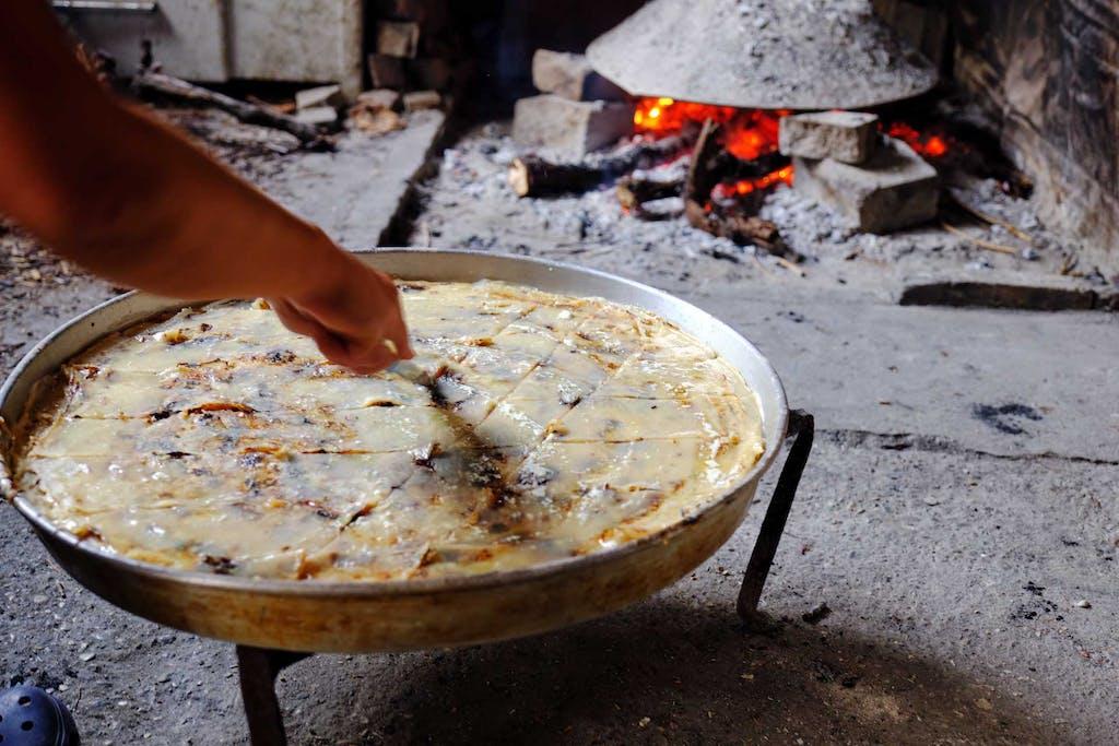 Albanian staple dish flija