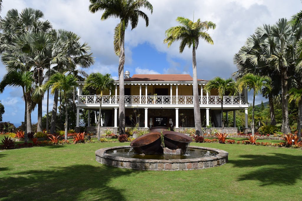 Nevisian architecture in the Botanical Gardens