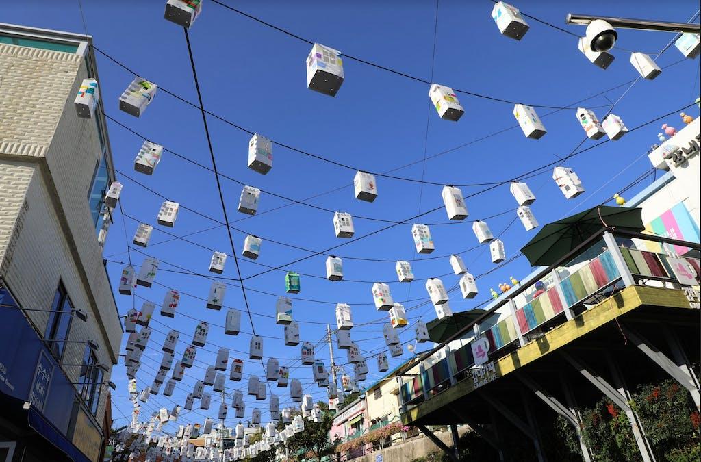 Paper lanterns in Gamcheon