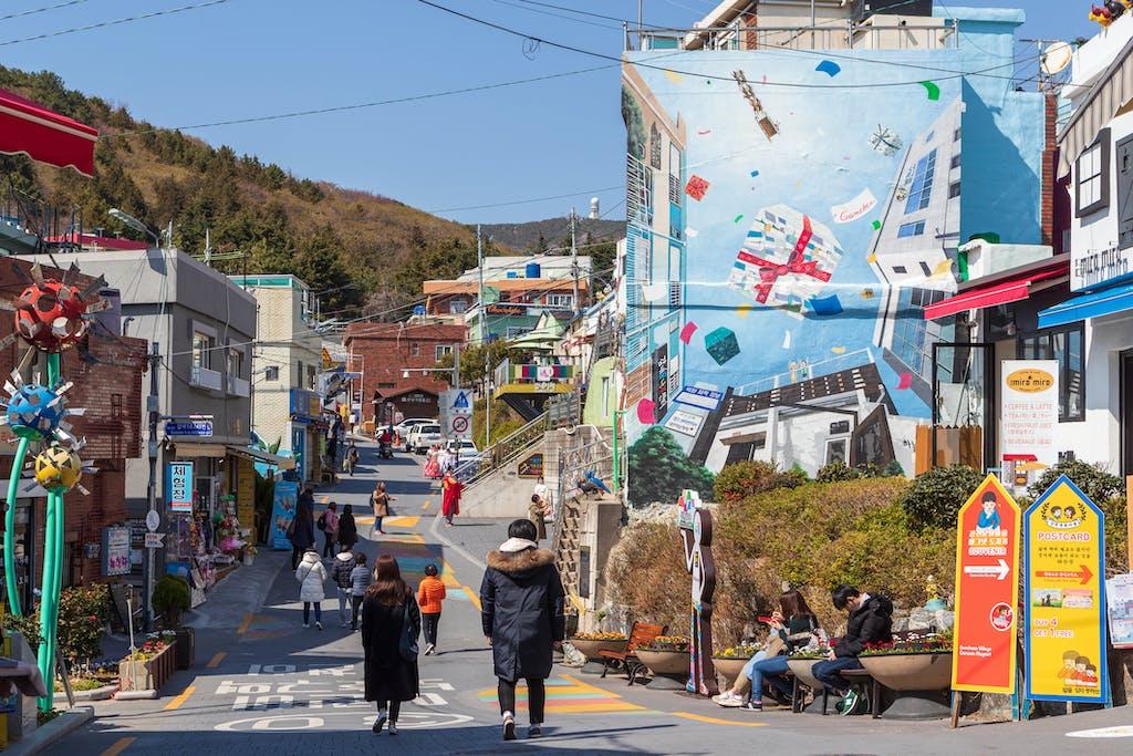 Street in Busan's Gamcheon neighborhood